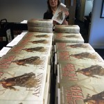 Robin Hobb with  half of her Signed Page books!